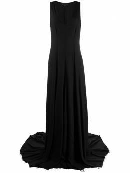 Ann Demeulemeester вечернее платье с глубоким вырезом 19022318150