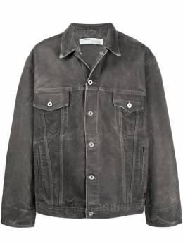 Off-White джинсовая куртка с жатым эффектом OMYE051S20E550251002