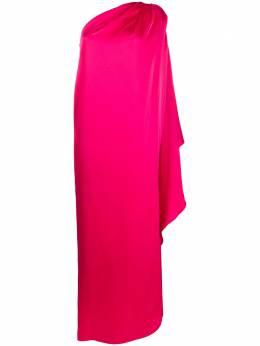 Gianluca Capannolo атласное платье на одно плечо 20EA1159300