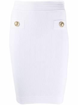 Balmain юбка-карандаш с декоративными пуговицами TF14304K030