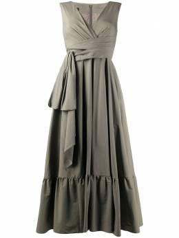 Talbot Runhof платье Boma с оборками на подоле BOMA3XA10