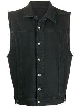 Rick Owens DRKSHDW джинсовый жилет оверсайз DU20S5764DO