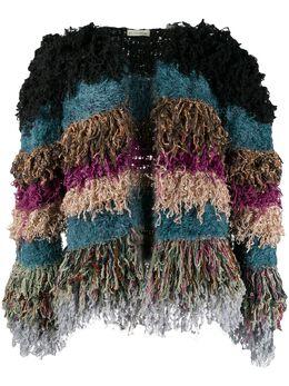 Etro укороченная куртка с отделкой из шерпы 139409750