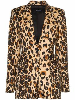 Mugler блейзер с леопардовым принтом 20R1VE0297743