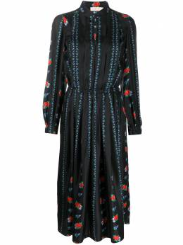 Tory Burch платье-рубашка со складками 65200