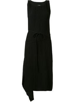 Goen.J платье-трапеция асимметричного кроя с драпировкой GJ20RSDS01