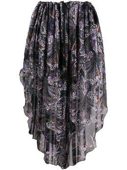 Etro юбка с принтом пейсли 133964594