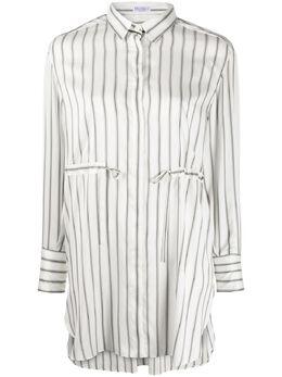 Brunello Cucinelli длинная рубашка в полоску MF774MY116C901