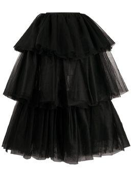 Mm6 Maison Margiela ярусная юбка из тюля S62MA0036S52862