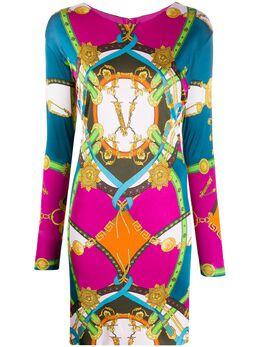 Versace платье мини с графичным принтом A85800A233266