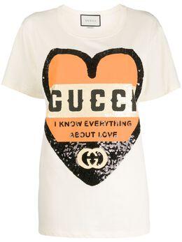 Gucci футболка с пайетками 492347XJB72