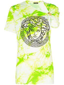 Versace футболка с принтом Medusa и узором тай-дай A86374A234568
