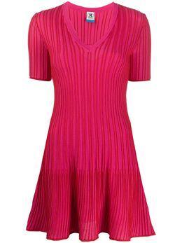 M Missoni трикотажное платье в рубчик 2DG003712K0051