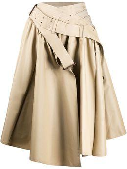 Junya Watanabe расклешенная юбка асимметричного кроя JES008S20