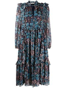 Ulla Johnson платье миди Seraphina с принтом SERAPHINAPS200115