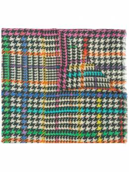 Etro mixed houndstooth scarf 117774625