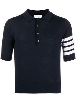 Thom Browne рубашка-поло с полосками 4-Bar MKP048A00014