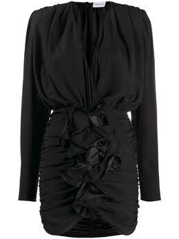 Magda Butrym платье мини Burgos со сборками 1635208007SILKBLACK