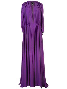Ann Demeulemeester плиссированное платье-туника с V-образным вырезом 19022314103