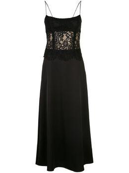 Rasario приталенное платье с кружевом и фестонами 0033S201