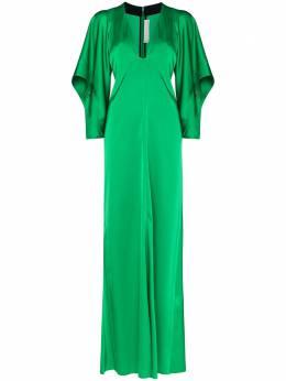 Victoria Beckham атласное платье макси 1120WDR000941A