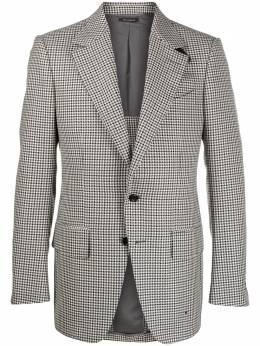 Tom Ford однобортный пиджак в ломаную клетку 15MP40718R70