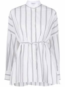 Brunello Cucinelli полосатая рубашка с завязками на поясе MF767MW106C002