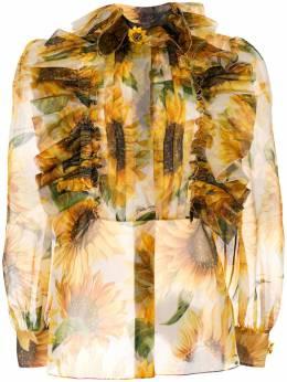 Dolce&Gabbana полупрозрачная блузка с принтом F5J71ZHS15J