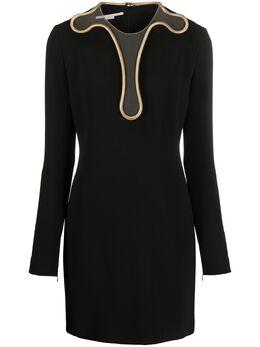 Stella McCartney платье мини Isabela с цепочкой 600150SNA28