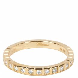 Chopard Ice Cube Diamond 0.31 CTW 18K Yellow Gold Eternity Ring Size 55 282453