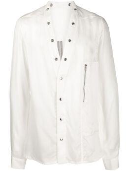 Rick Owens полупрозрачная рубашка Larry RR20S7287J