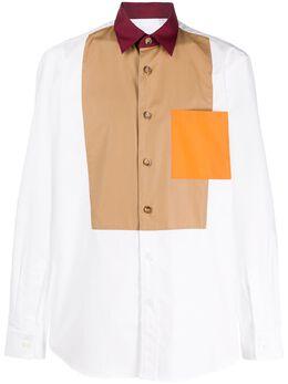 Burberry рубашка в технике пэчворк 8026174