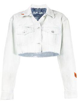 Heron Preston джинсовая куртка с необработанными краями HWYE001R20641008W205