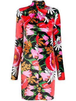 Richard Quinn платье с цветочным принтом RQSS2065STRETCHVELOUR