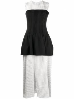 Nina Ricci многослойное платье в полоску со вставкой 20PCR0020WV024114447