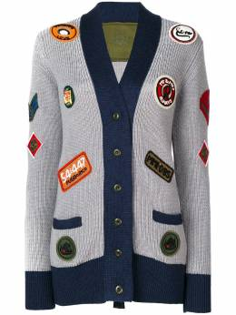 Mr & Mrs Italy трикотажное пальто с нашивками BZ011E