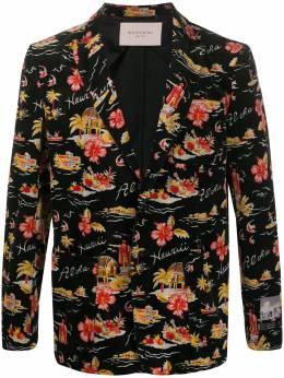 Buscemi пиджак с цветочным узором BMS20101