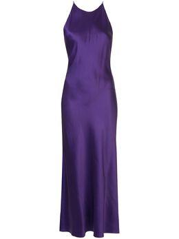 Rosetta Getty платье-комбинация с перекрестными бретелями 12205F7446