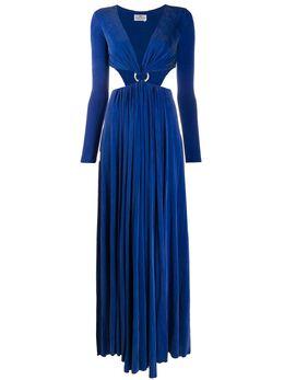 Elisabetta Franchi платье с вырезами и кольцом AB23501E2