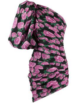 Giuseppe Di Morabito платье с цветочным принтом и объемными рукавами 118DR88
