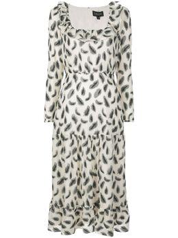 Saloni платье макси с абстрактным принтом 10345745K