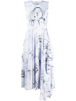 Alexander McQueen платье миди Dancing Girl 621675QDAAP