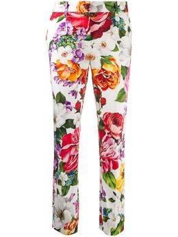 Dolce&Gabbana укороченные брюки с цветочным принтом FTATOTFSFJG