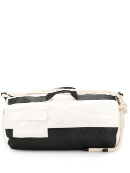 Ann Demeulemeester большой двухцветный рюкзак 20018424401