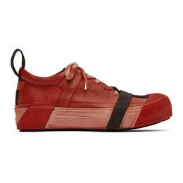 Boris Bidjan Saberi Red Bamba2 Sneakers BAMBA2-FMM20036