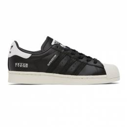 Adidas Originals Black and White Superstar Sneakers FV2809