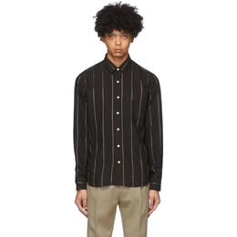 Ami Alexandre Mattiussi Black Striped Summer Fit Shirt E20HC139.413