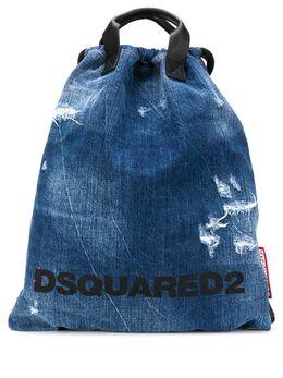 Dsquared2 джинсовый рюкзак с эффектом потертости BPW001010102582
