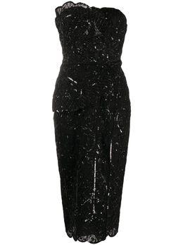 Zuhair Murad декорированное платье без рукавов DRR20013EMAL002