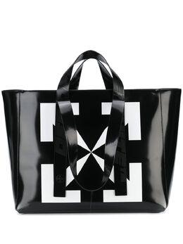 Off-White сумка-тоут с логотипом OMNA054S207200251001